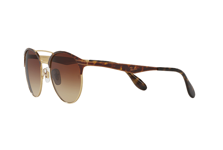 Ray Ban Round RB3545 Gold / Top Havana lente Brown Gradient cod. RB3545 900813 54 - Image 2