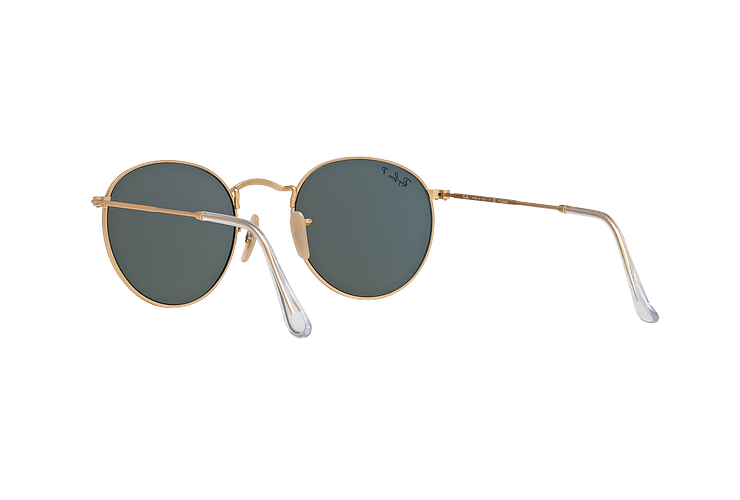 Ray Ban Round Metal Matte Gold lente Green Polarized cod. RB3447 112/58 50 - Image 5
