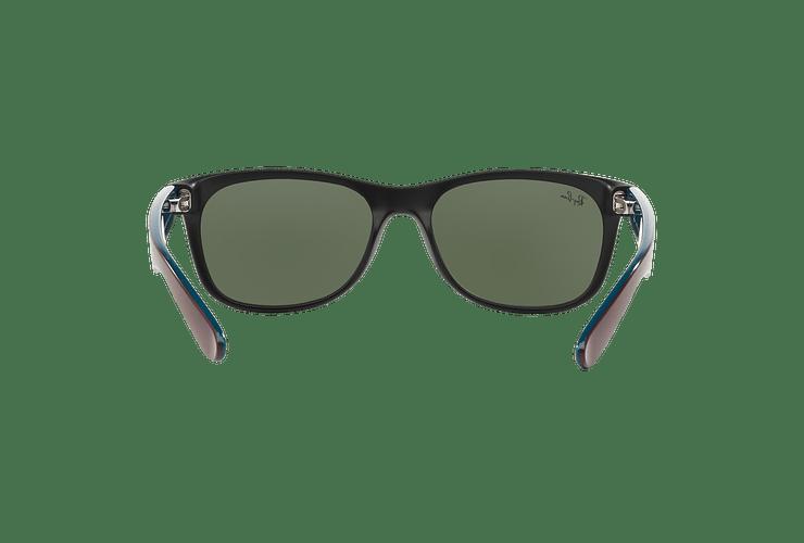 Ray Ban New Wayfarer Matte Black lente Green cod. RB2132 6182 55 - Image 6