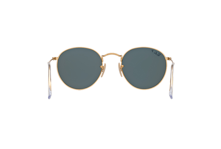 Ray Ban Round Metal Matte Gold lente Green Polarized cod. RB3447 112/58 50 - Image 6