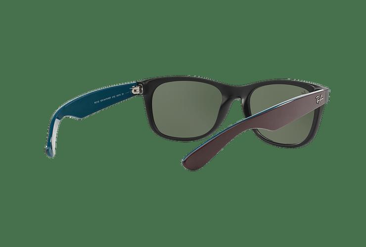 Ray Ban New Wayfarer Matte Black lente Green cod. RB2132 6182 55 - Image 7