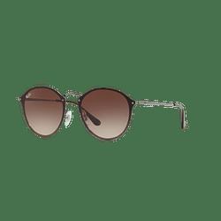Ray Ban Blaze Round Gunmetal lente Brown Gradient cod. RB3574N 004/13 59