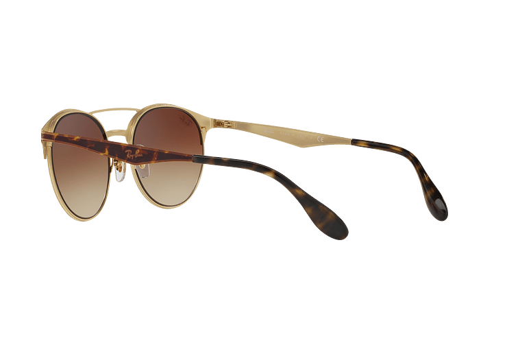 Ray Ban Round RB3545 Gold / Top Havana lente Brown Gradient cod. RB3545 900813 54 - Image 4