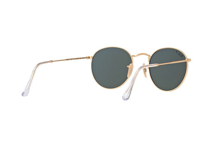 Ray Ban Round Metal Matte Gold lente Green Polarized cod. RB3447 112/58 50 - Image 7