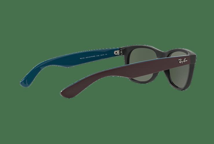 Ray Ban New Wayfarer Matte Black lente Green cod. RB2132 6182 55 - Image 8