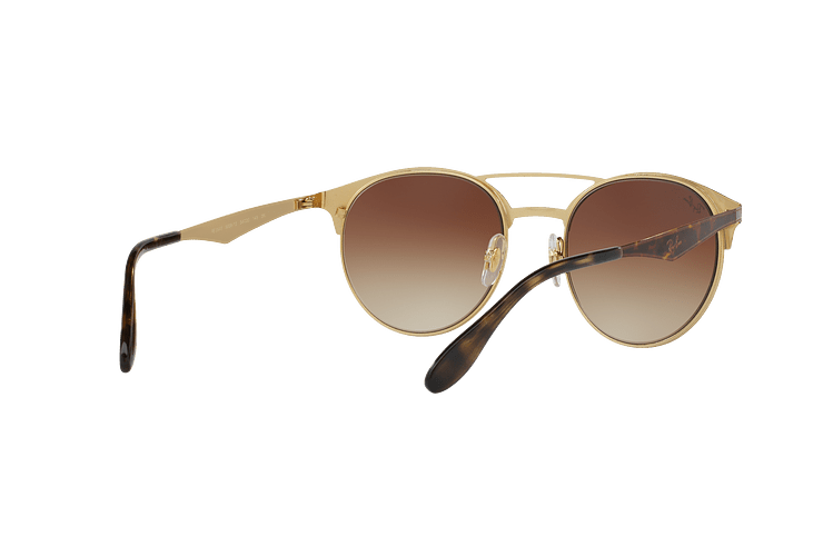 Ray Ban Round RB3545 Gold / Top Havana lente Brown Gradient cod. RB3545 900813 54 - Image 7