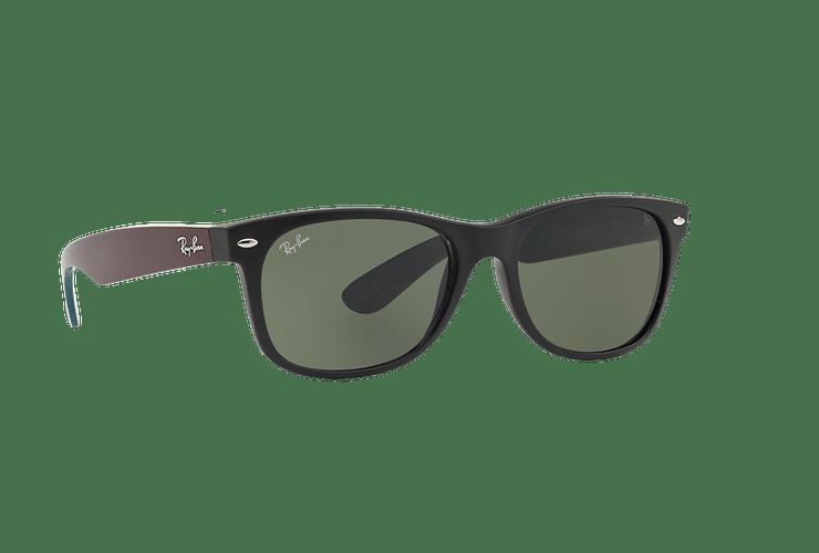 Ray Ban New Wayfarer Matte Black lente Green cod. RB2132 6182 55 - Image 11