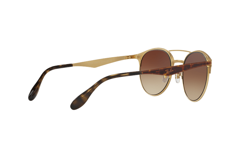 Ray Ban Round RB3545 Gold / Top Havana lente Brown Gradient cod. RB3545 900813 54 - Image 8