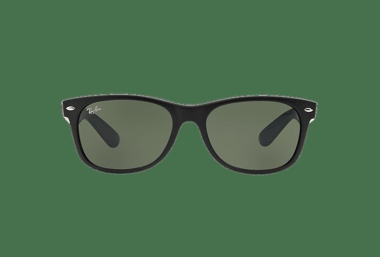 Ray Ban New Wayfarer Matte Black lente Green cod. RB2132 6182 55 - Image 12
