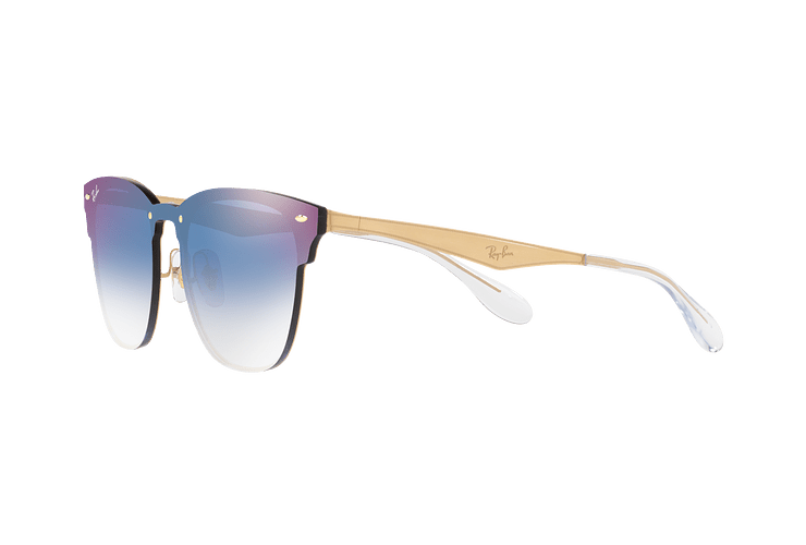 Ray Ban Blaze Clubmaster Brusched Gold lente Blue Mirror red cod. RB3576N 043/X0 47 - Image 2