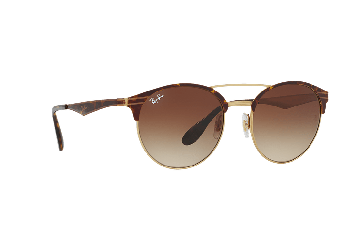 Ray Ban Round RB3545 Gold / Top Havana lente Brown Gradient cod. RB3545 900813 54 - Image 11