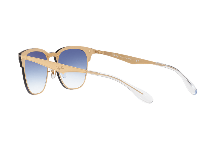 Ray Ban Blaze Clubmaster Brusched Gold lente Blue Mirror red cod. RB3576N 043/X0 47 - Image 4