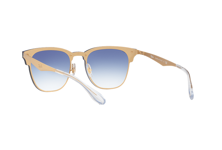 Ray Ban Blaze Clubmaster Brusched Gold lente Blue Mirror red cod. RB3576N 043/X0 47 - Image 5