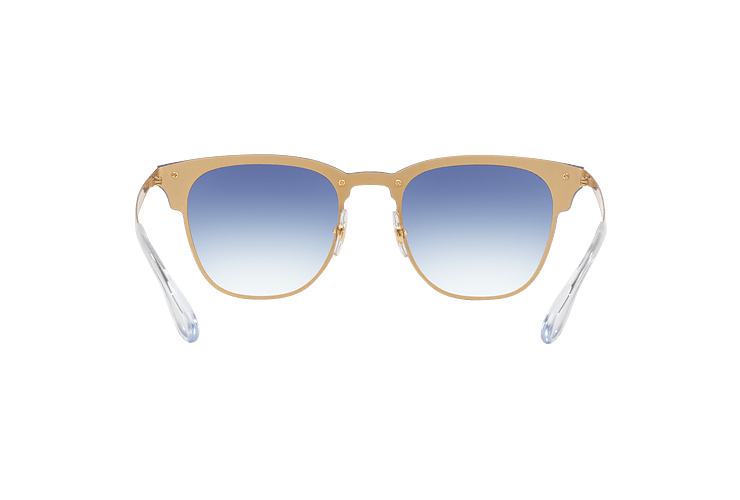 Ray Ban Blaze Clubmaster Brusched Gold lente Blue Mirror red cod. RB3576N 043/X0 47 - Image 6