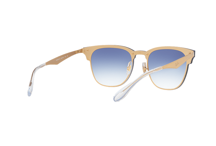 Ray Ban Blaze Clubmaster Brusched Gold lente Blue Mirror red cod. RB3576N 043/X0 47 - Image 7