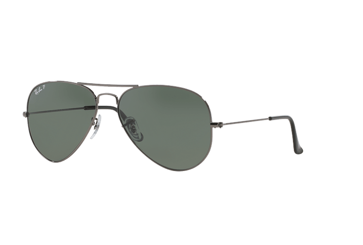 90215d7ea Ray-Ban Aviador Gunmetal lente Crystal Green Polarized cod. RB3025 004/58 58