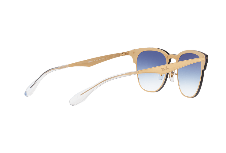Ray Ban Blaze Clubmaster Brusched Gold lente Blue Mirror red cod. RB3576N 043/X0 47 - Image 8