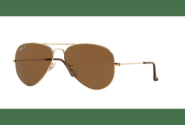 Ray Ban Aviador Gold lente Crystal Brown Polarized cod. RB3025 001 57 62 - 3403c91c56