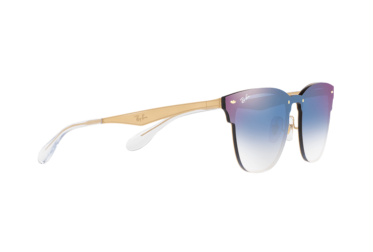 Ray Ban Blaze Clubmaster Brusched Gold lente Blue Mirror red cod. RB3576N 043/X0 47 - Image 10