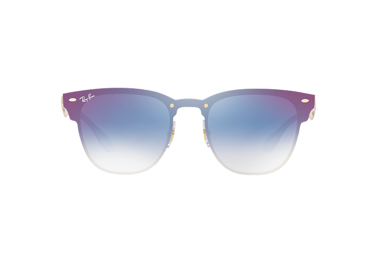 Ray Ban Blaze Clubmaster Brusched Gold lente Blue Mirror red cod. RB3576N 043/X0 47 - Image 12