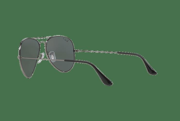 Ray Ban Aviador Gunmetal lente Crystal Green Polarized cod. RB3025 004/58 58 - Image 4