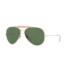 Ray Ban Outdoorsman II Gold lente Crystal Green cod. RB3029 L2112 62