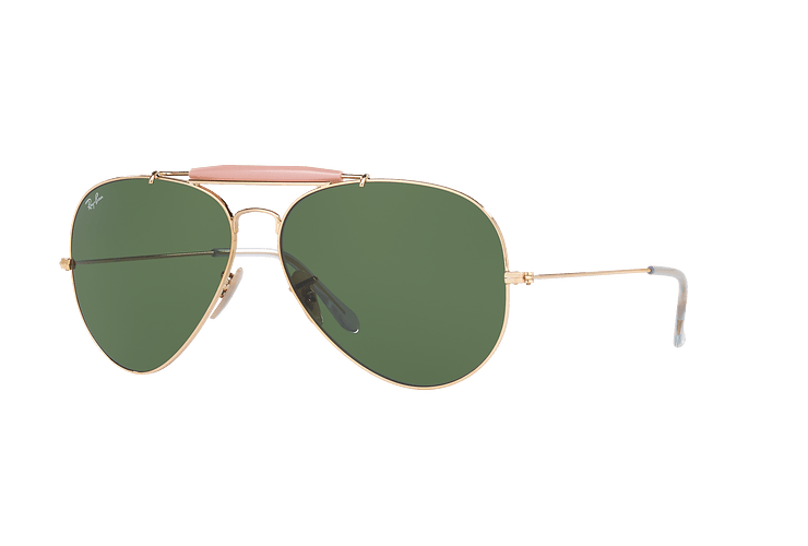 Ray-Ban Outdoorsman II Gold lente Crystal Green cod. RB3029 L2112 62 - Image 1
