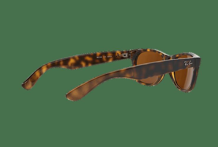Ray Ban New Wayfarer Light Havana lente Crystal Brown cod. RB2132 710 55 - Image 8