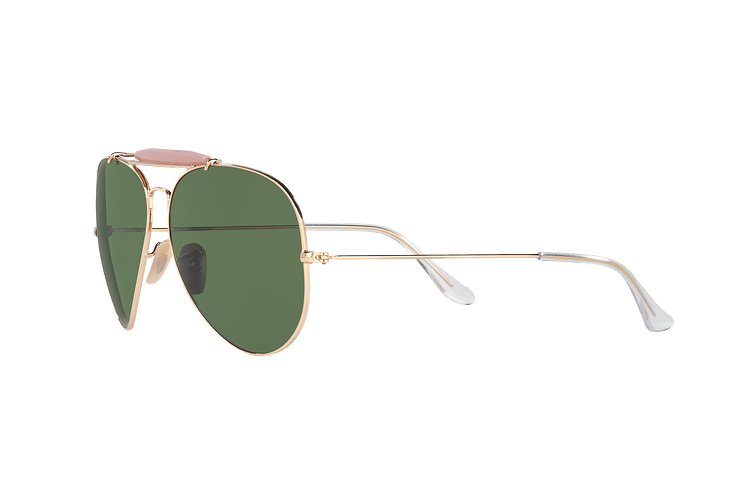 Ray-Ban Outdoorsman II Gold lente Crystal Green cod. RB3029 L2112 62 - Image 2