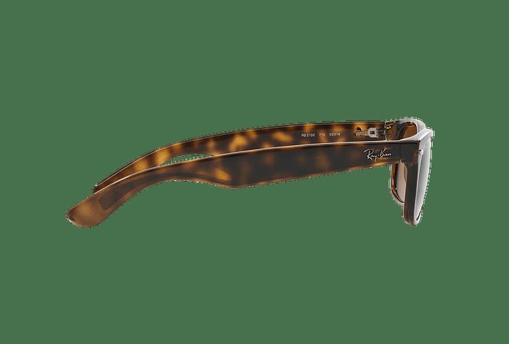 Ray Ban New Wayfarer Light Havana lente Crystal Brown cod. RB2132 710 55 - Image 9