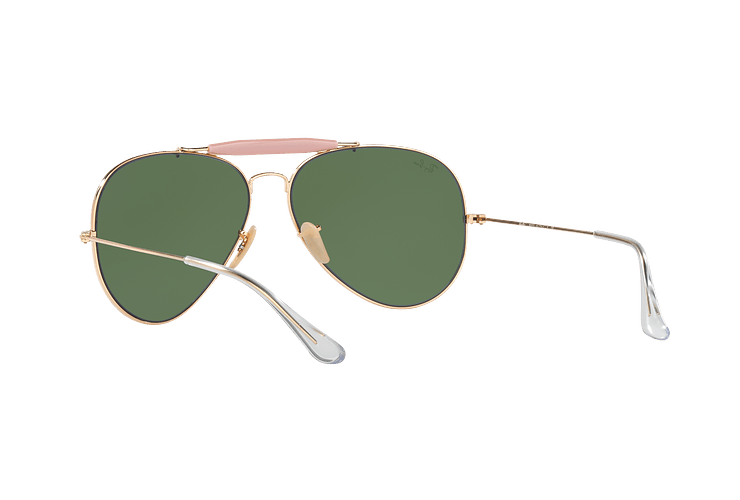 Ray-Ban Outdoorsman II Gold lente Crystal Green cod. RB3029 L2112 62 - Image 5