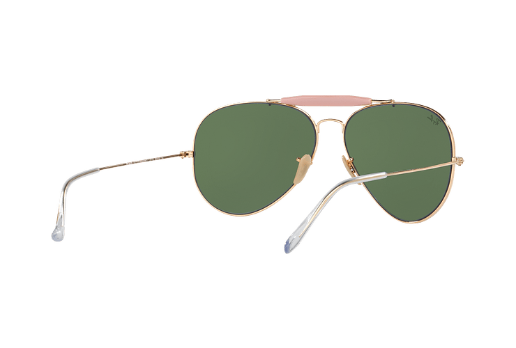 Ray-Ban Outdoorsman II Gold lente Crystal Green cod. RB3029 L2112 62 - Image 7