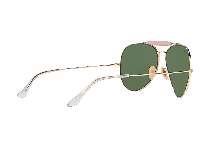 Ray-Ban Outdoorsman II Gold lente Crystal Green cod. RB3029 L2112 62 - Image 8