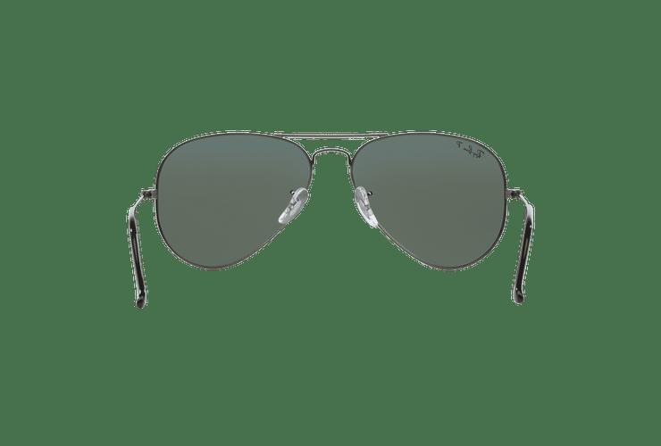 Ray Ban Aviador Gunmetal lente Crystal Green Polarized cod. RB3025 004/58 58 - Image 6