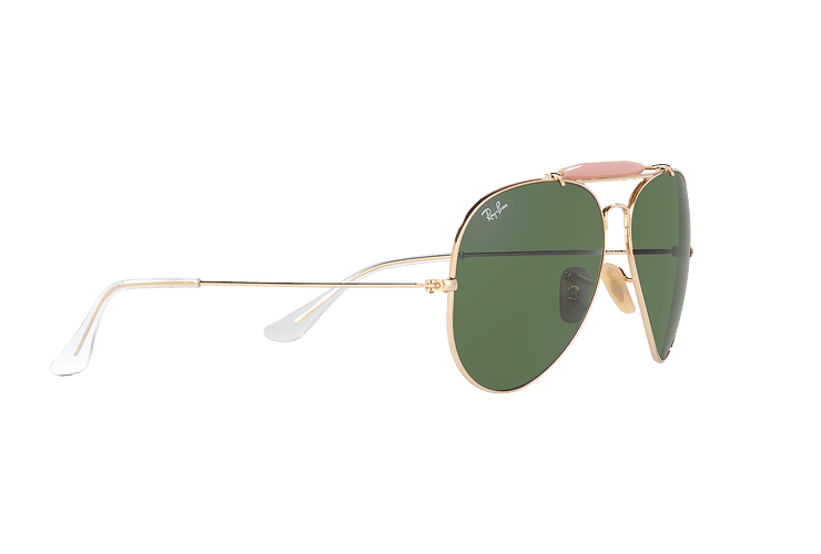 Ray-Ban Outdoorsman II Gold lente Crystal Green cod. RB3029 L2112 62 - Image 10