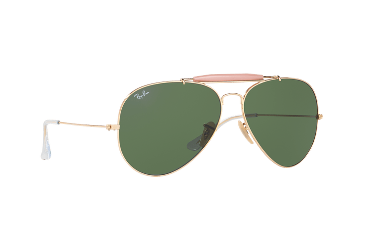 Ray-Ban Outdoorsman II Gold lente Crystal Green cod. RB3029 L2112 62 - Image 11