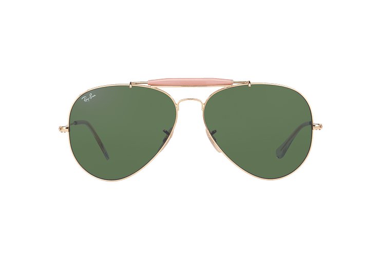 Ray-Ban Outdoorsman II Gold lente Crystal Green cod. RB3029 L2112 62 - Image 12