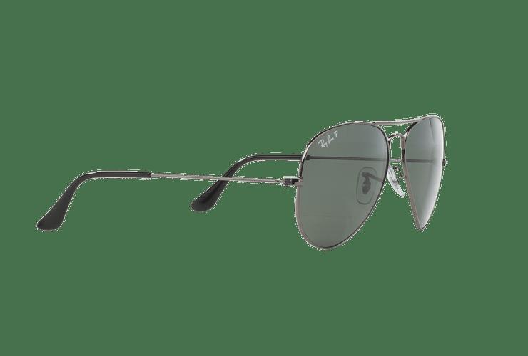 Ray Ban Aviador Gunmetal lente Crystal Green Polarized cod. RB3025 004/58 58 - Image 10
