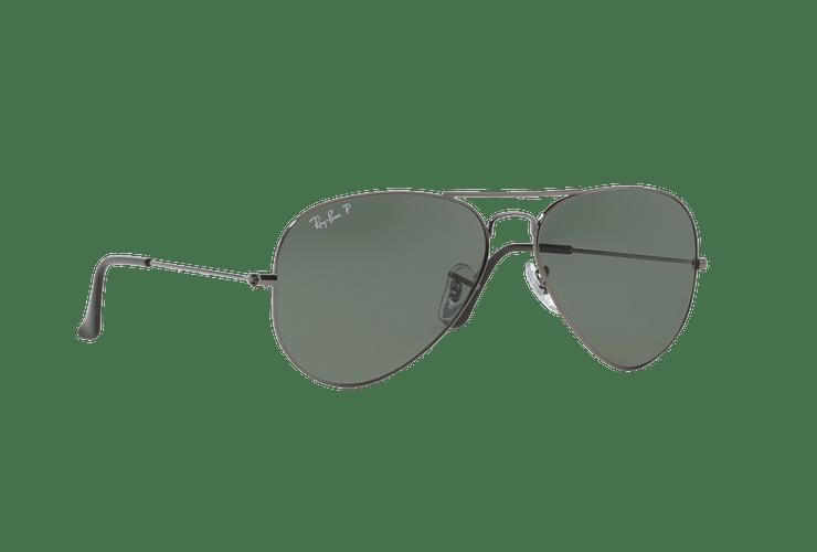 Ray Ban Aviador Gunmetal lente Crystal Green Polarized cod. RB3025 004/58 58 - Image 11