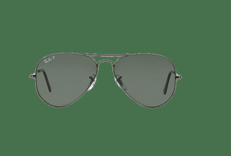 Ray Ban Aviador Gunmetal lente Crystal Green Polarized cod. RB3025 004/58 58 - Image 12