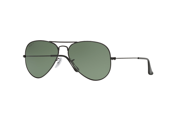 Ray Ban Aviador Matte Black lente Green Polarized cod. RB3025 W3361 58 - Image 1