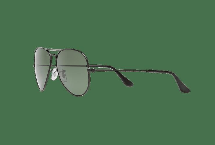 Ray Ban Aviador Matte Black lente Green Polarized cod. RB3025 W3361 58 - Image 2