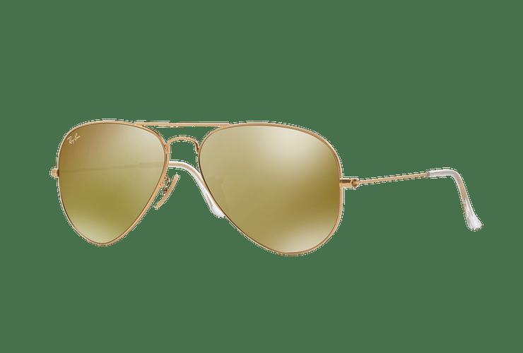 Ray-Ban Aviador Matte Gold lente Gold Mirror cod. RB3025 112/93 58 - Image 1
