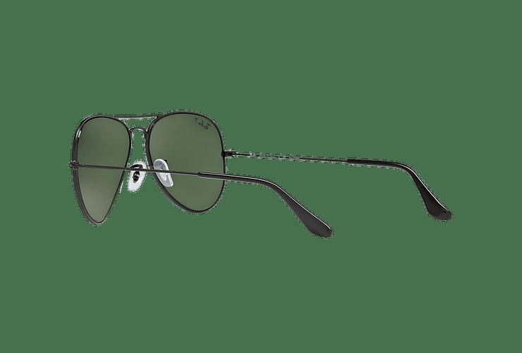Ray Ban Aviador Matte Black lente Green Polarized cod. RB3025 W3361 58 - Image 4
