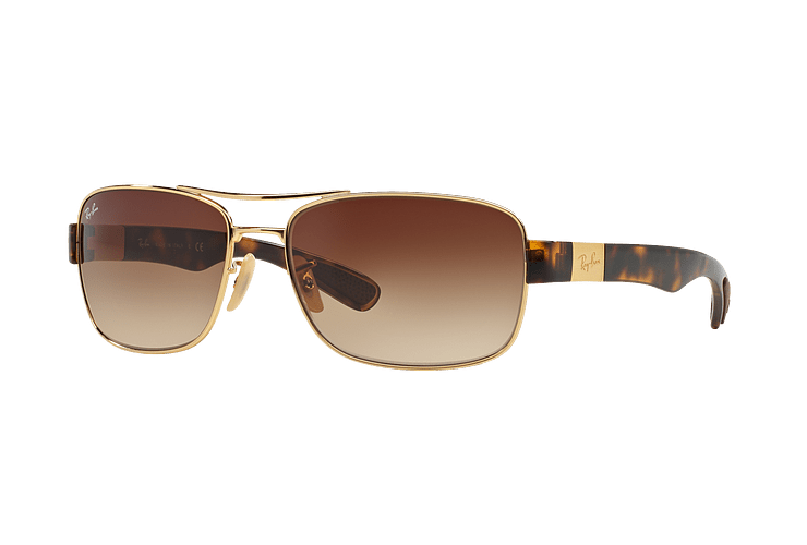 Ray Ban Active RB3522 Gold lente Brown Gradient cod. RB3522 001/13 61 - Image 1