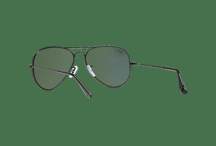 Ray Ban Aviador Matte Black lente Green Polarized cod. RB3025 W3361 58 - Image 5