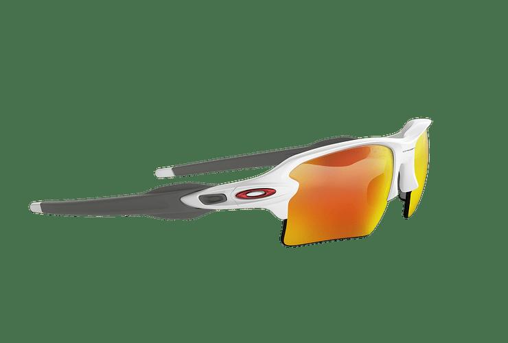 Oakley Flak 2.0 XL Polished White lente Ruby PRIZM cod. OO9188-9359 - Image 10