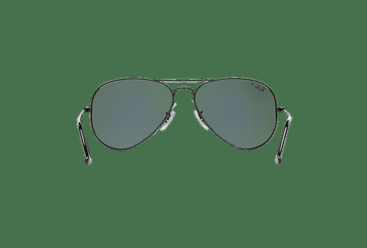 Ray Ban Aviador Matte Black lente Green Polarized cod. RB3025 W3361 58 - Image 6
