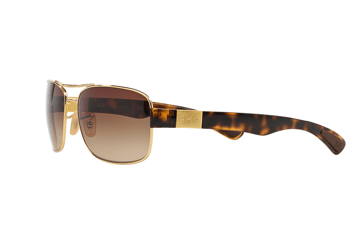 Ray Ban Active RB3522 Gold lente Brown Gradient cod. RB3522 001/13 61 - Image 2