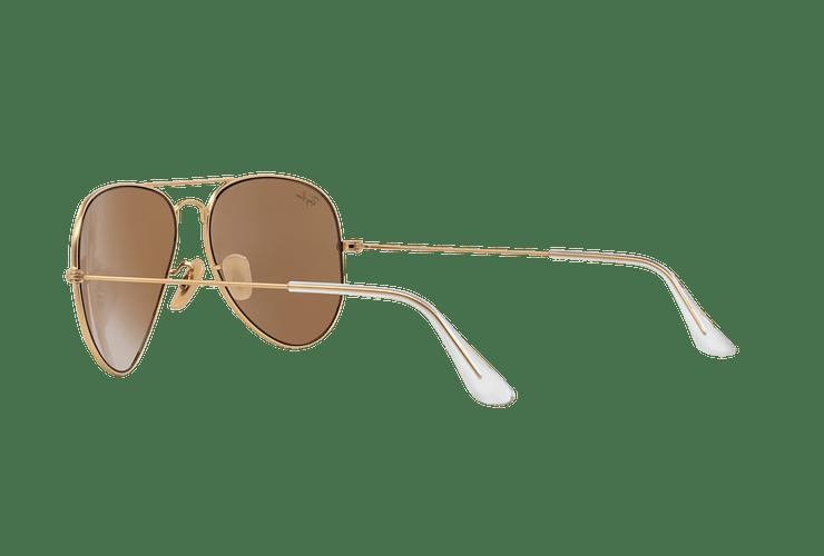 Ray-Ban Aviador Matte Gold lente Gold Mirror cod. RB3025 112/93 58 - Image 4